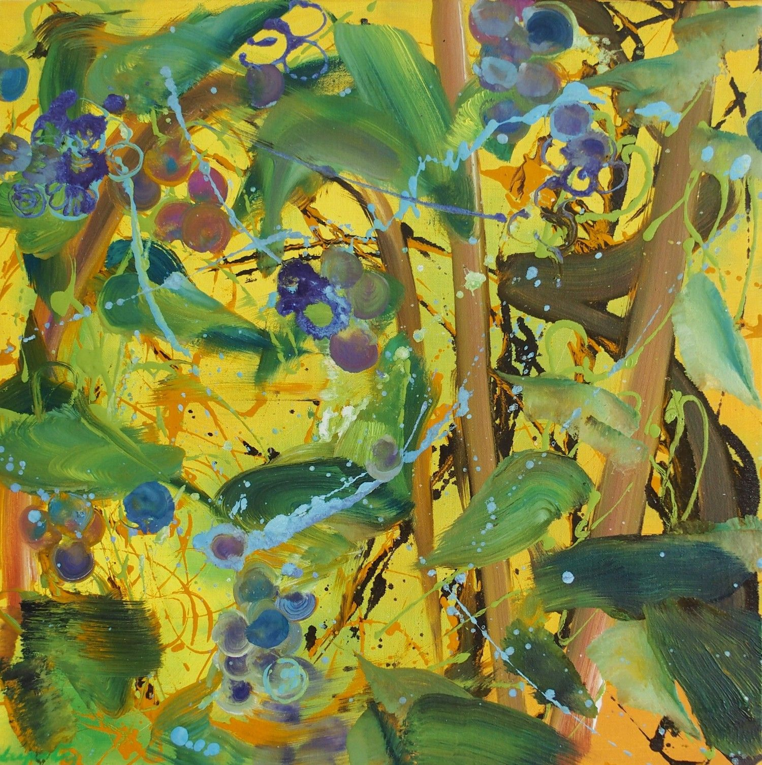 Blueberries - Christophe Dupety - Contemporary painting