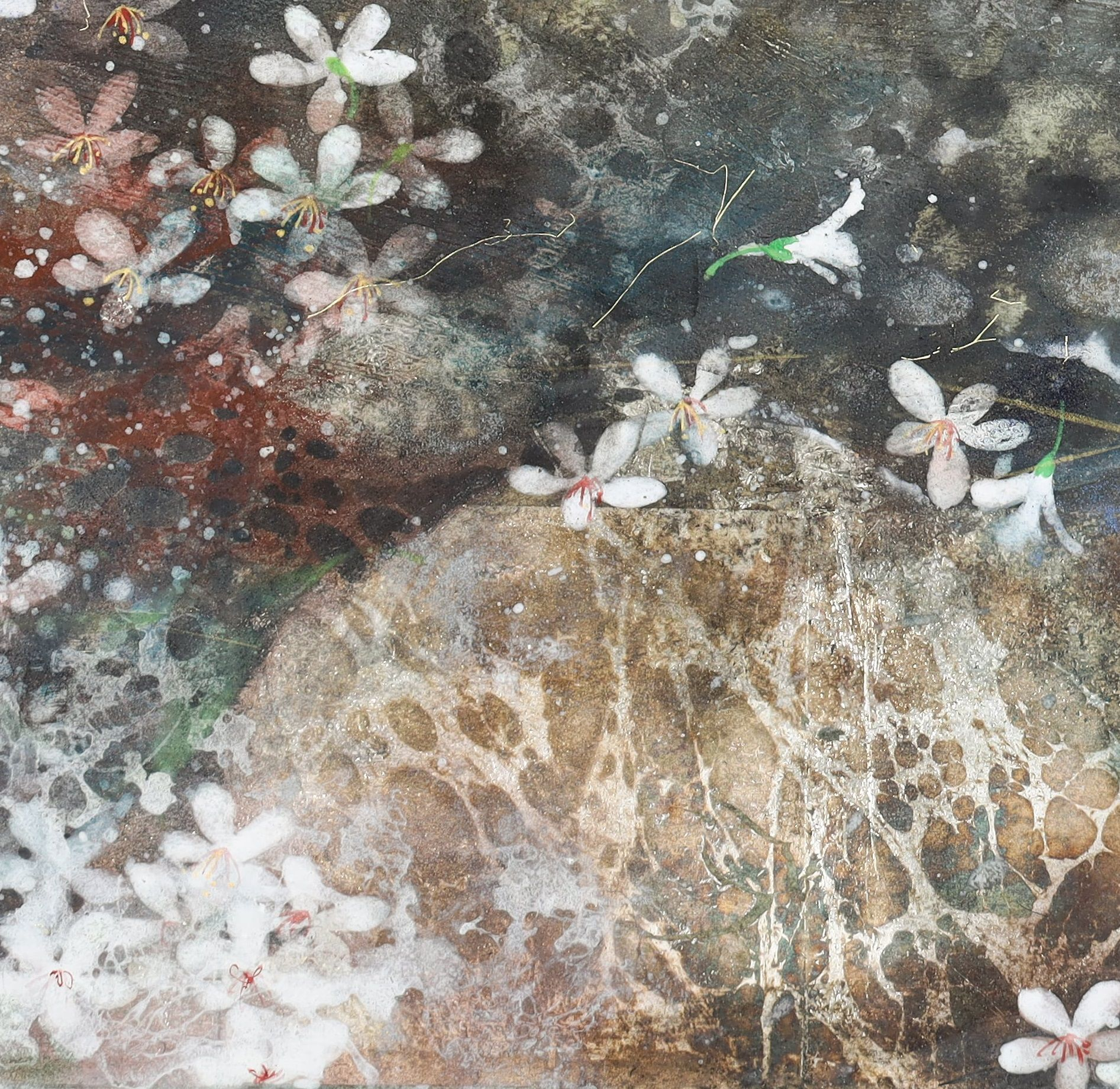 Snow of may II,Chen Yiching,Contemporary painting, detail 2