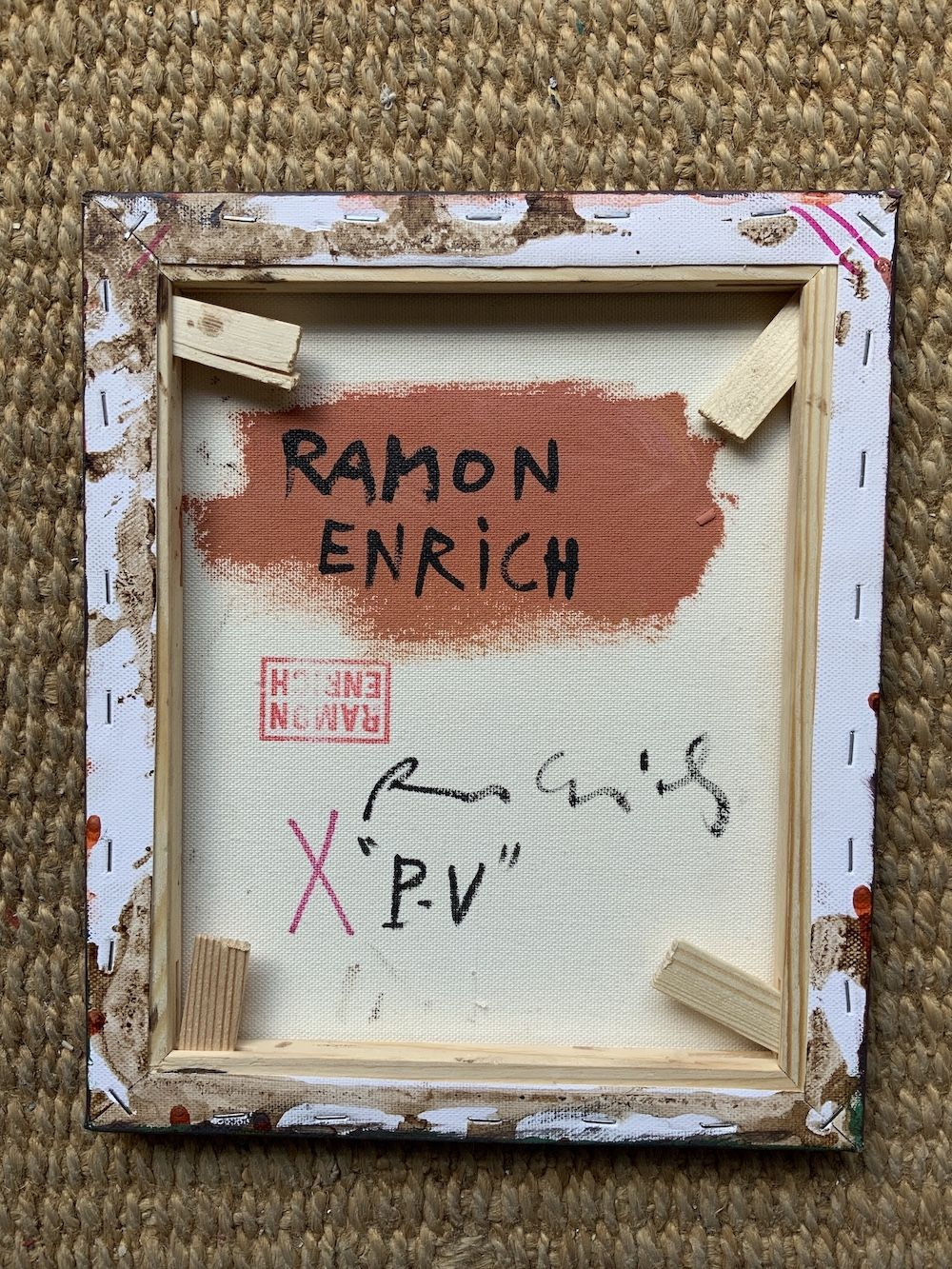 P-V,Ramon Enrich,Peinture contemporaine, detail 4