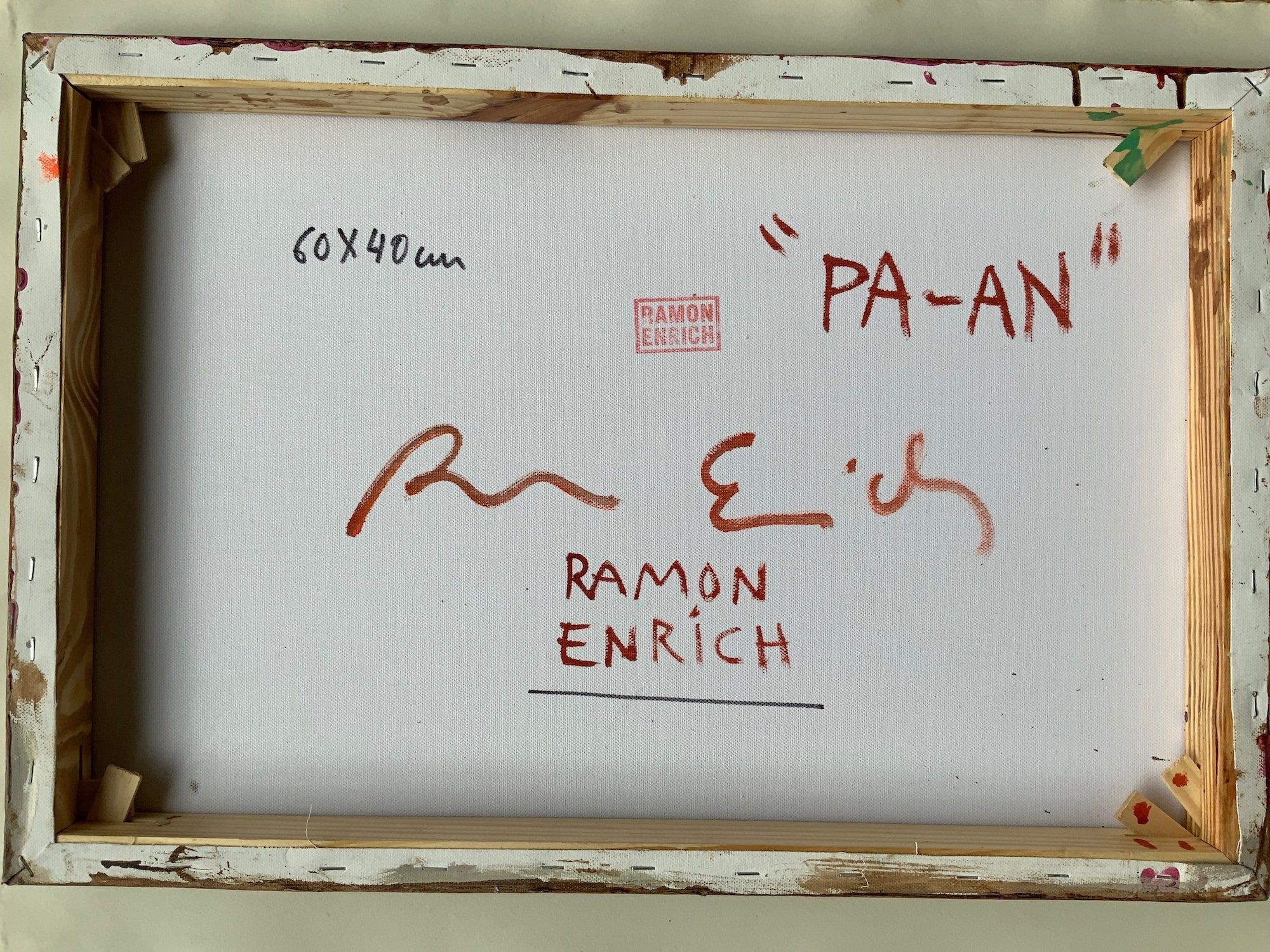 PA-AN,Ramon Enrich,Contemporary painting, detail 2