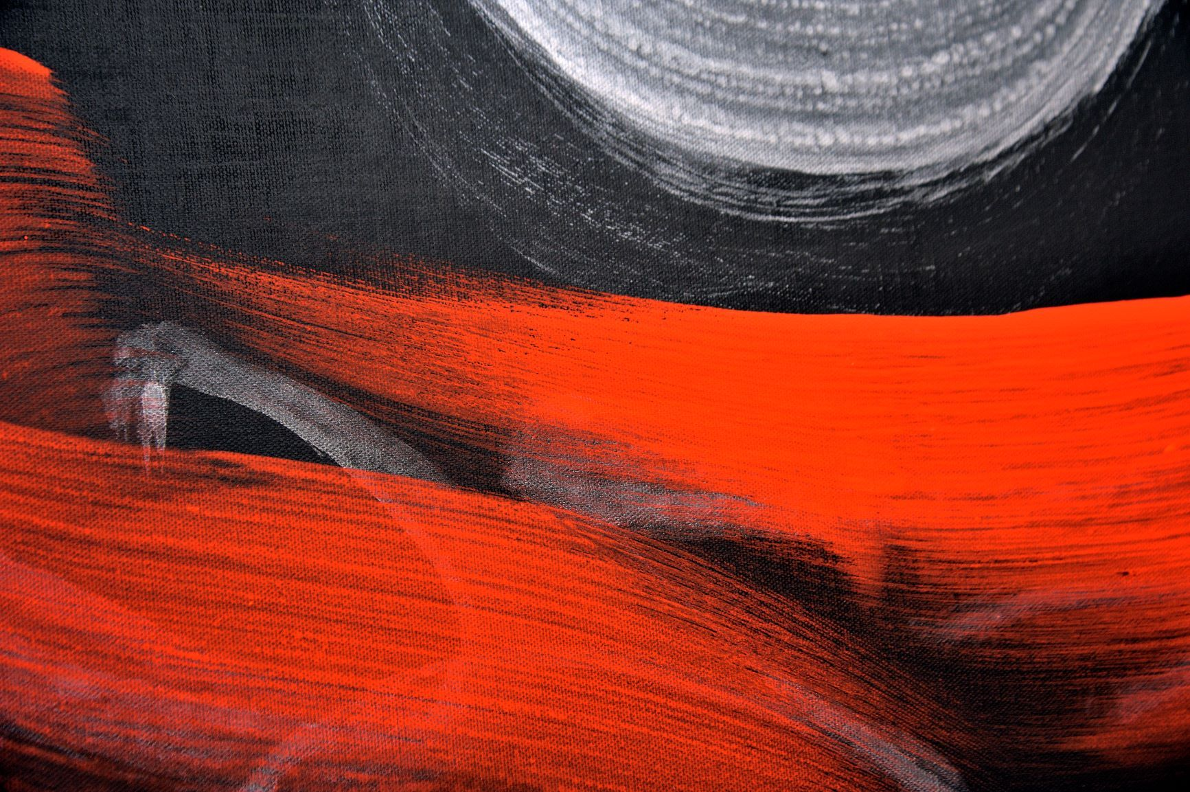 Permanescence TN695,Hachiro Kanno,Contemporary painting, detail 1