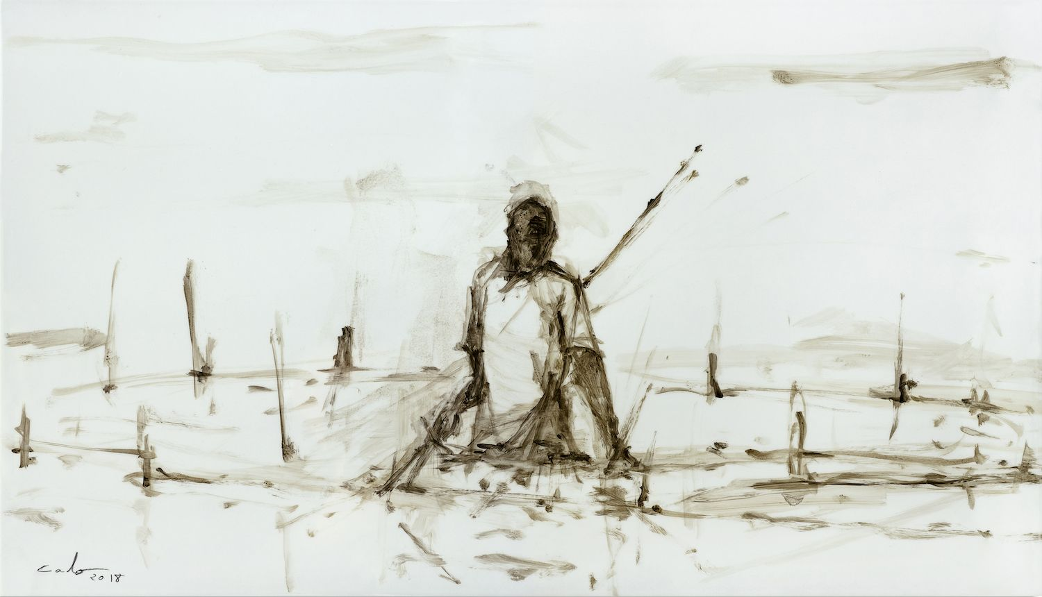 Pescador de hierro I, Tanzania series,Calo  Carratalá,Contemporary painting