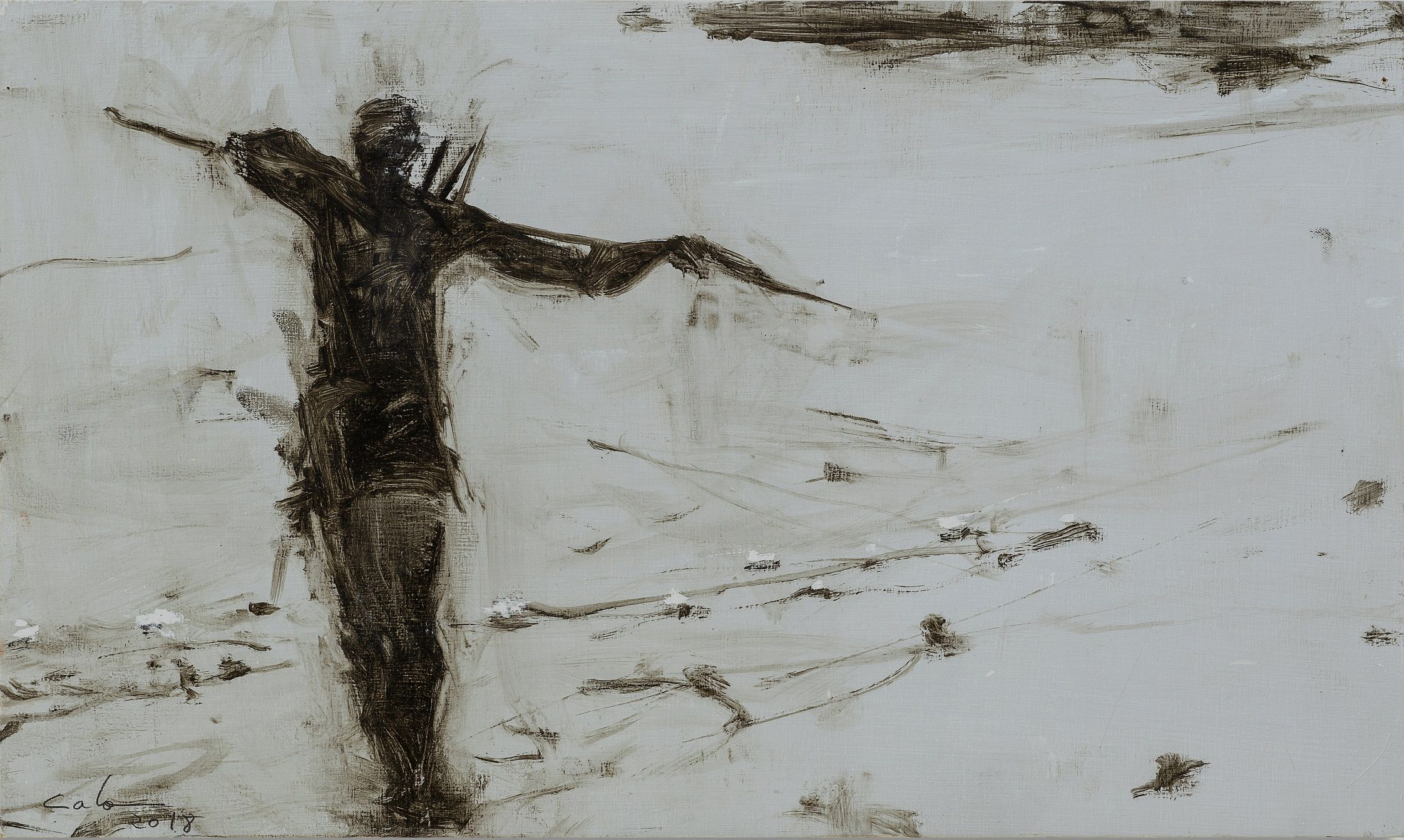 Pescador de tabla V, Tanzania series,Calo  Carratalá,Painting