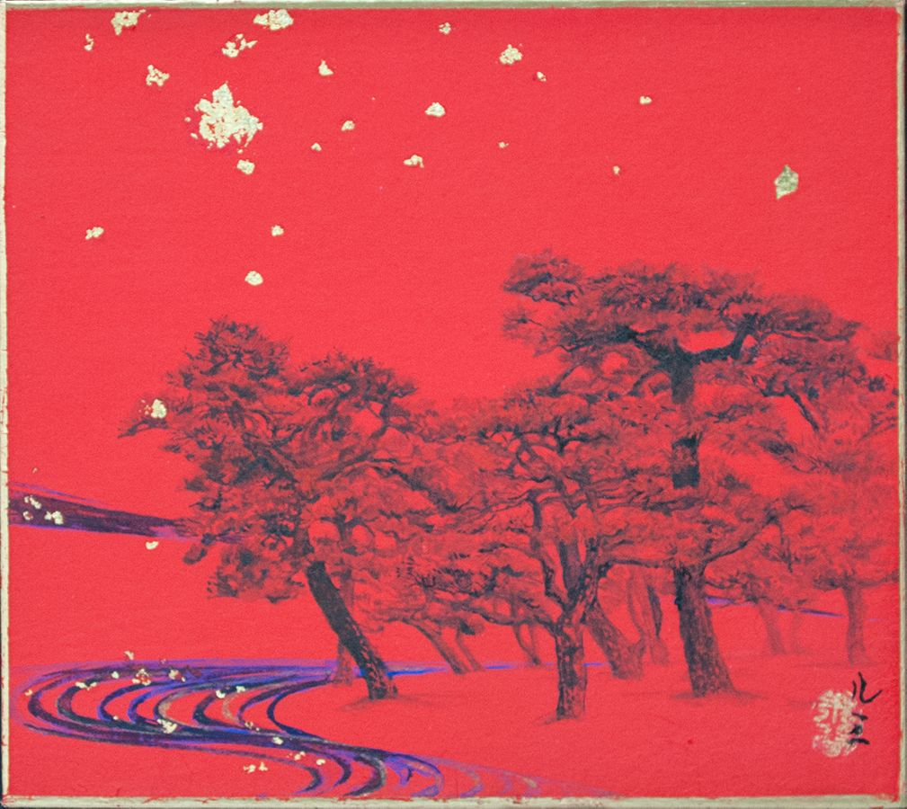 Pines in the stars ,Lumi Mizutani,Contemporary painting