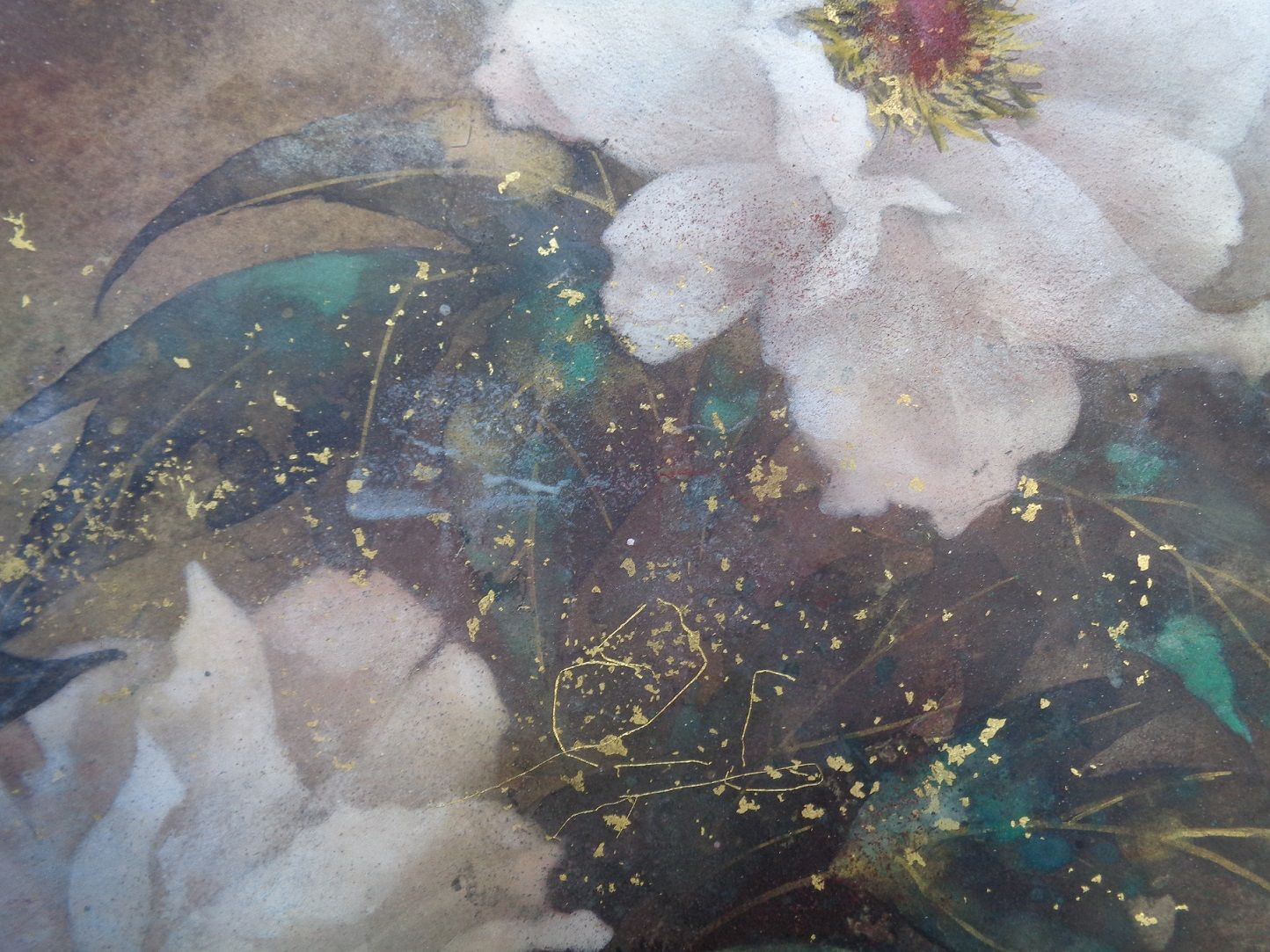 Peony  ,Chen Yiching,Contemporary painting, detail 2