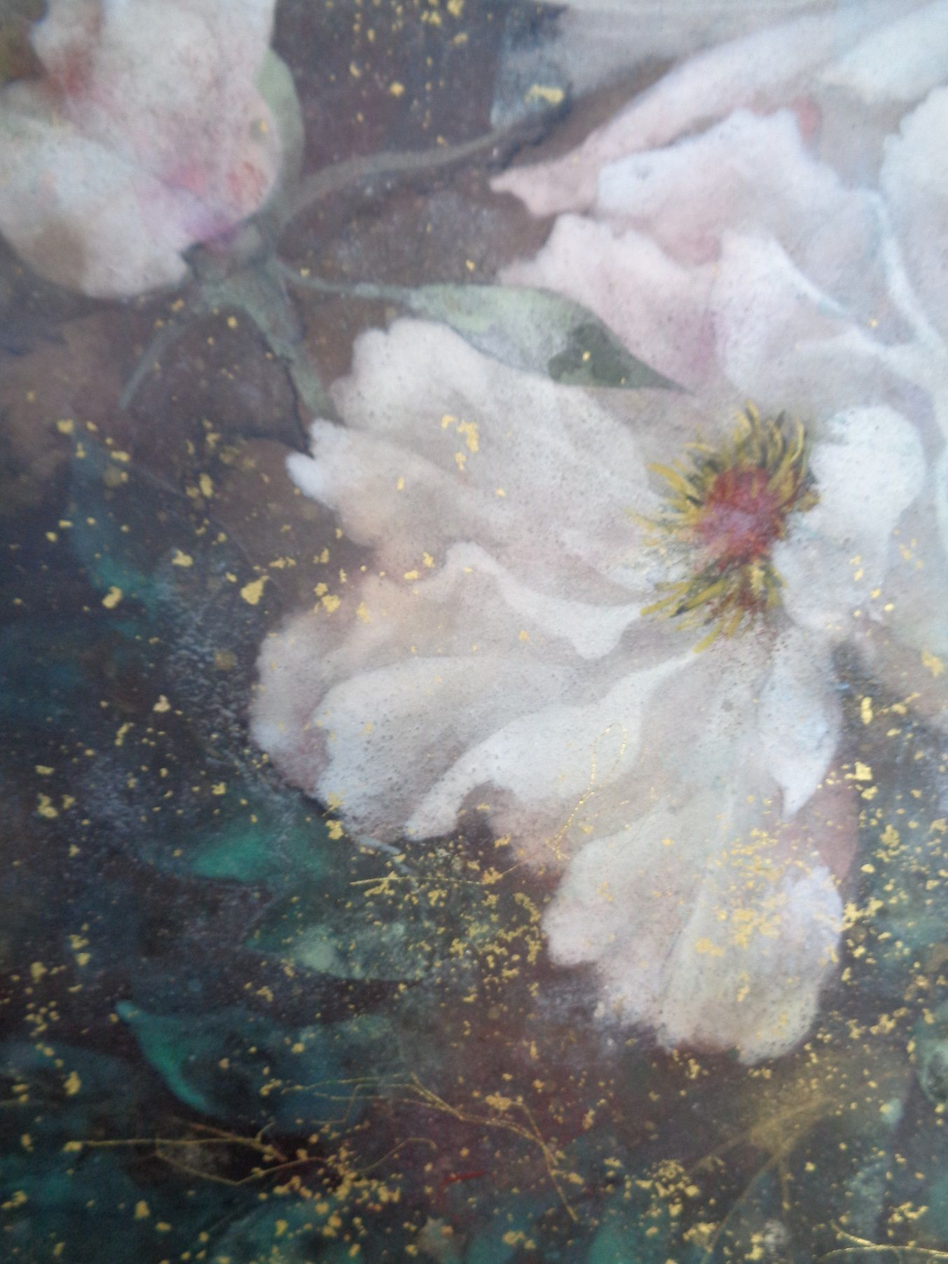 Peony  ,Chen Yiching,Contemporary painting, detail 3