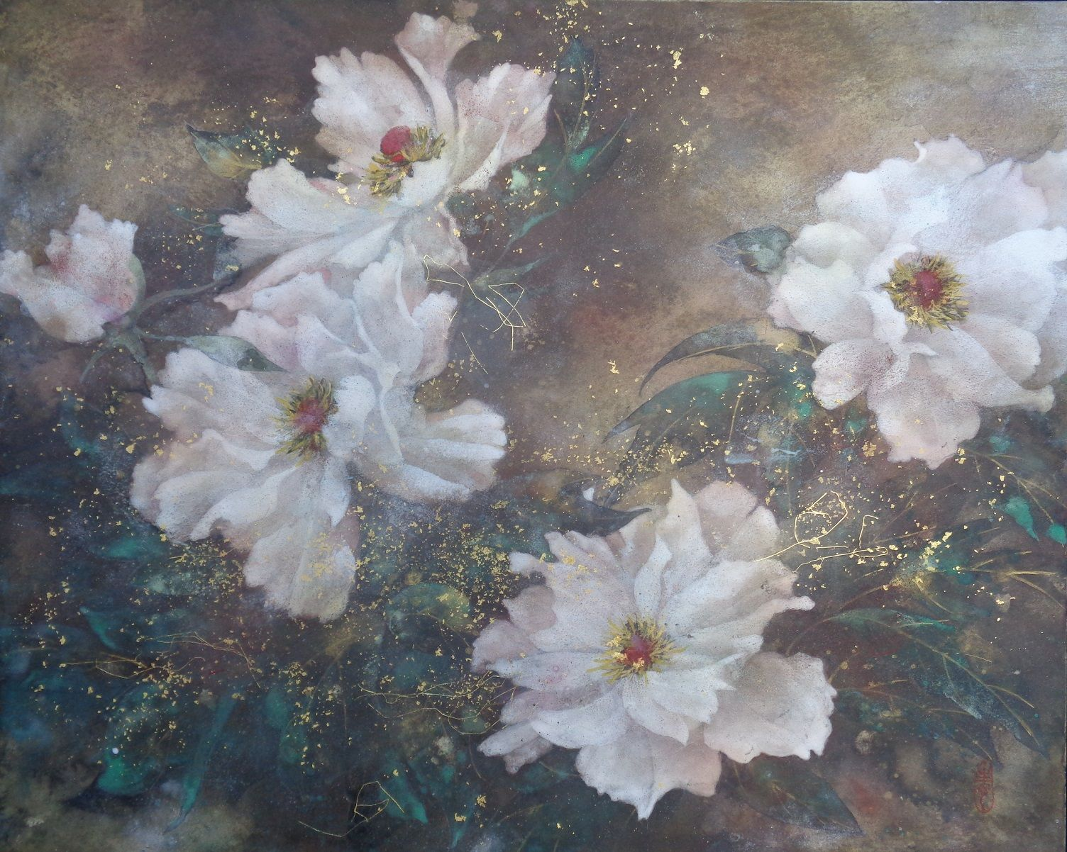 Peony  ,Chen Yiching,Contemporary painting