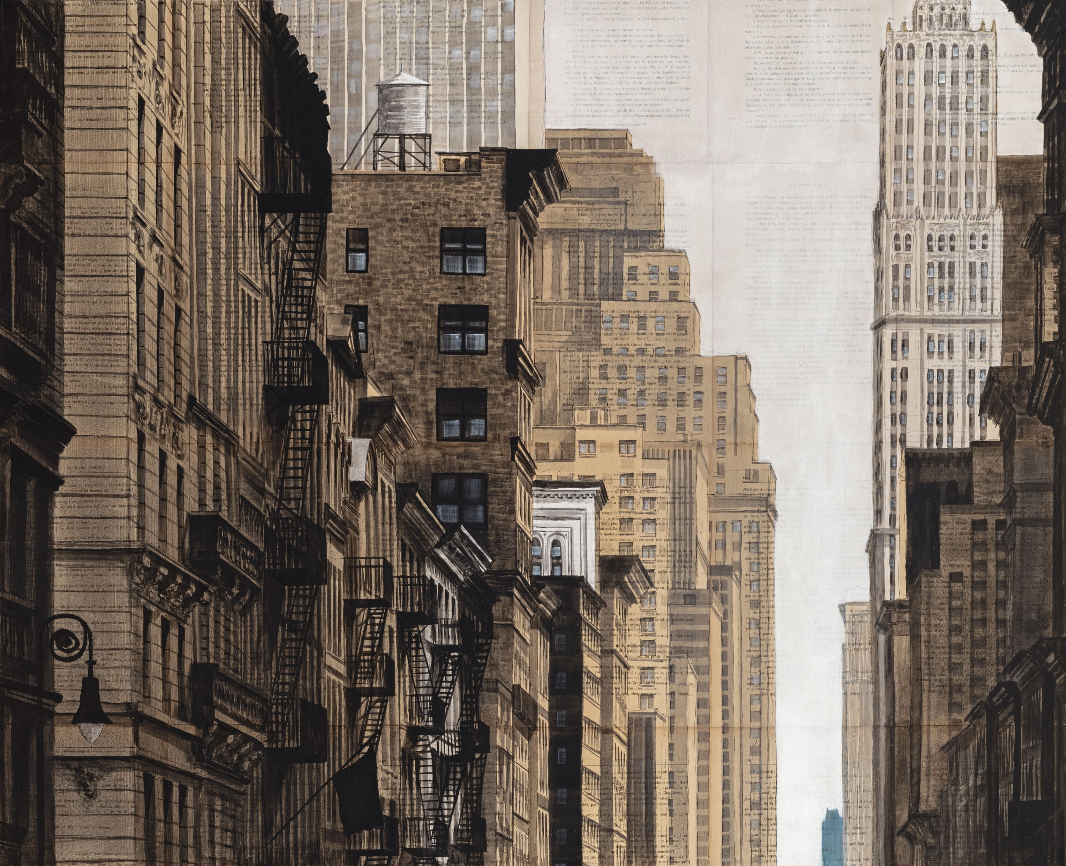 Prince St and Broadway,Guillaume Chansarel,Drawing