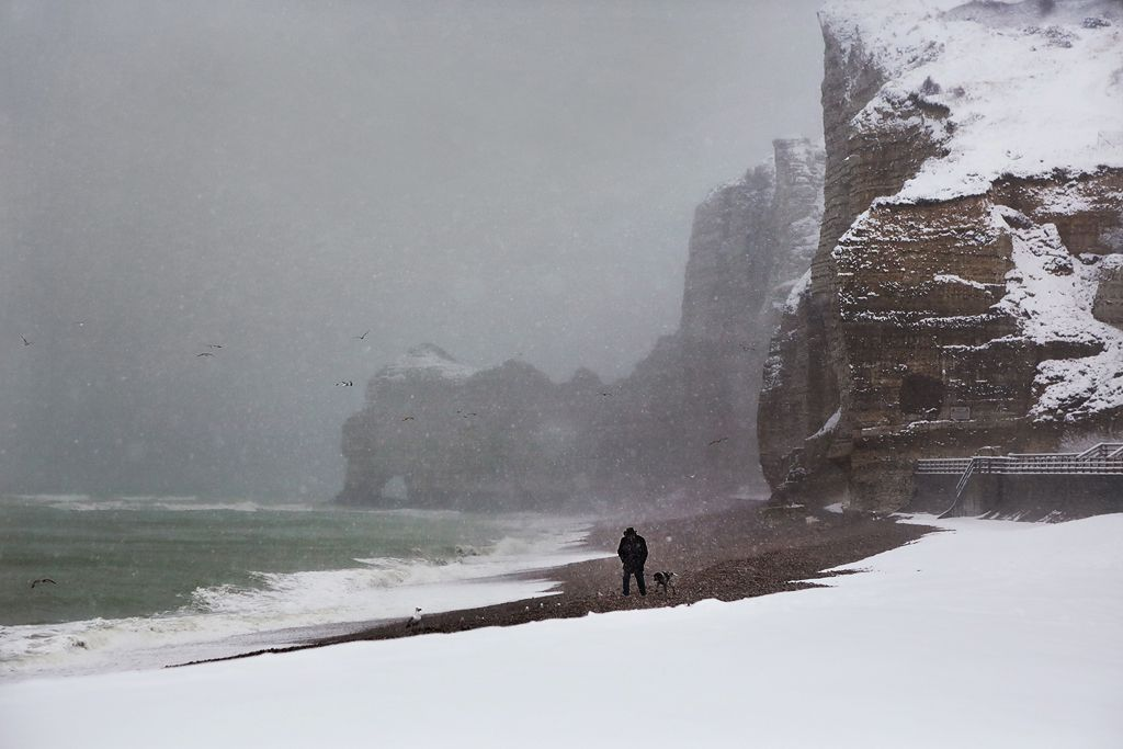 Walker and his dog,Christophe Jacrot,Photography