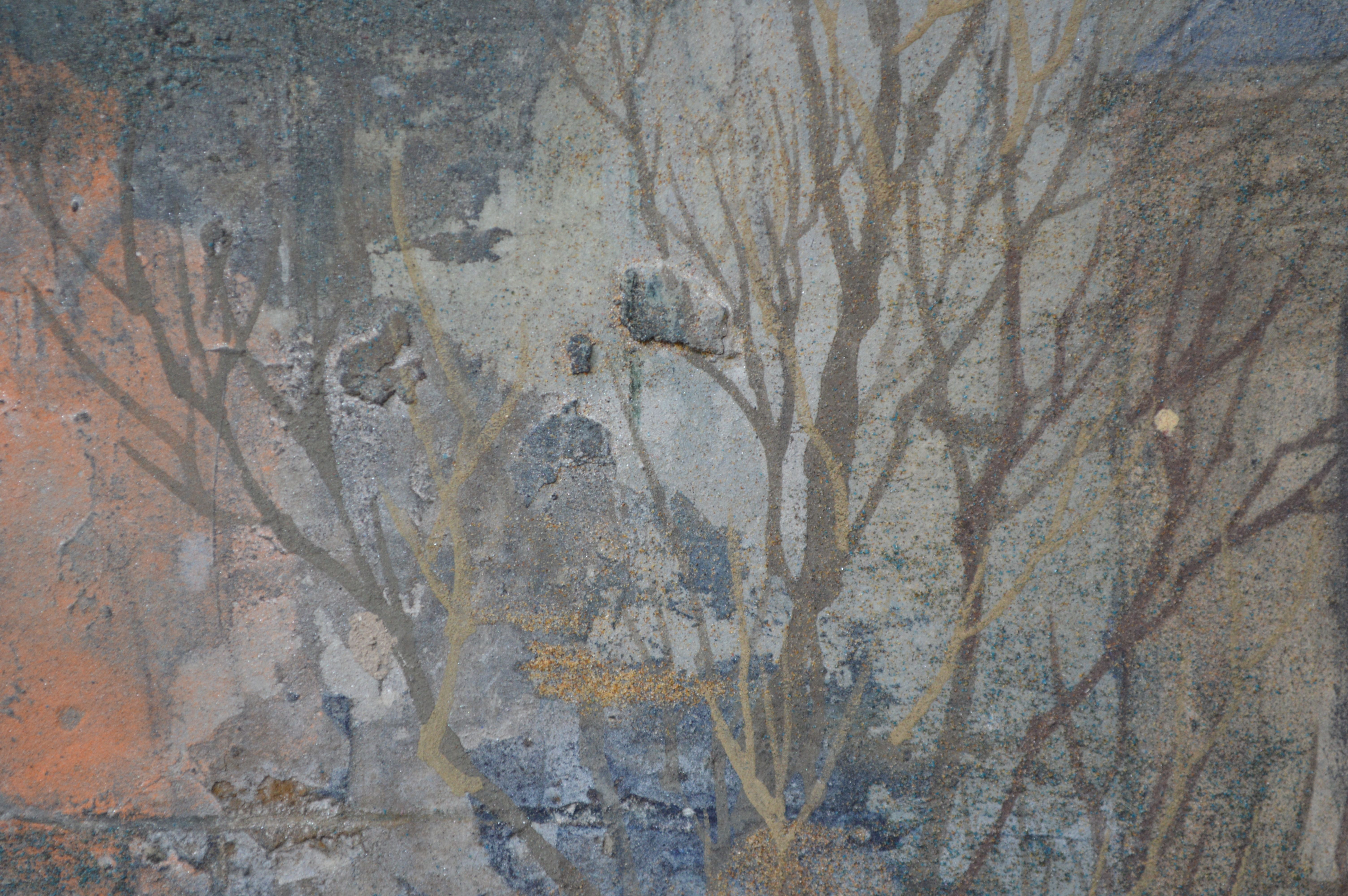 Quiétude,Chen Yiching,Peinture contemporaine, detail 1