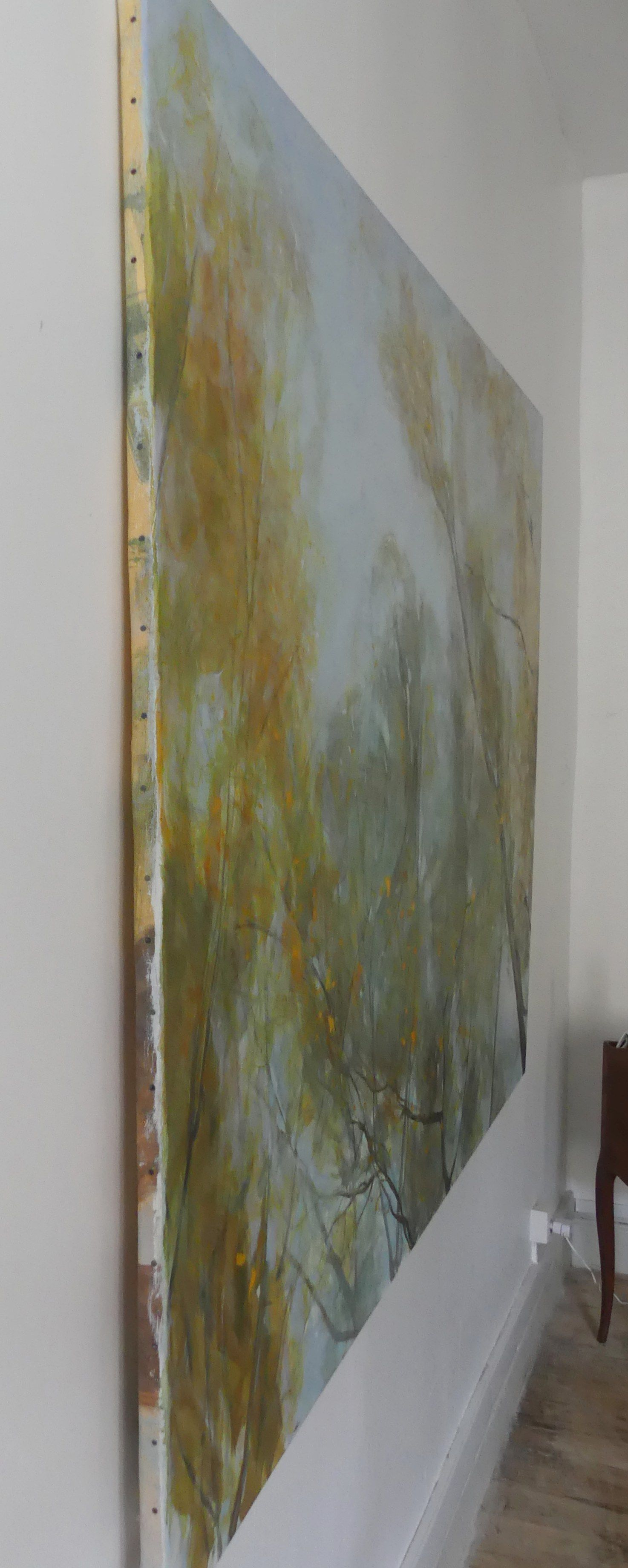 Aspens' and Willows' Branches in Autumn ,Valérie de Sarrieu,Contemporary painting, detail 4