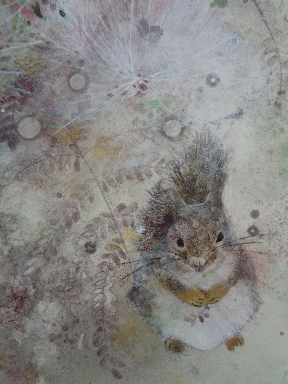 Research II,Chen Yiching,Contemporary painting, detail 2