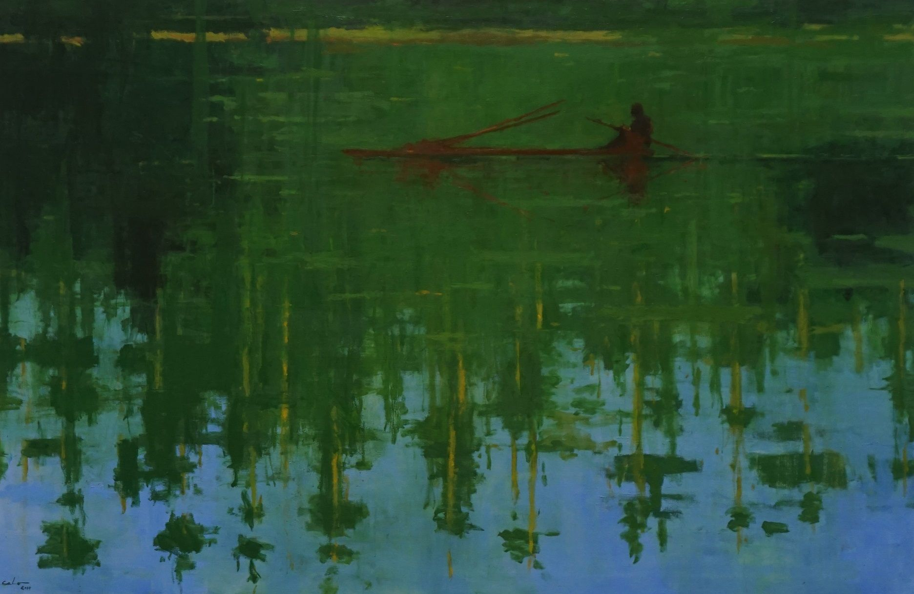 Reflection n°6, Jungle series - Calo  Carratalá - Contemporary painting