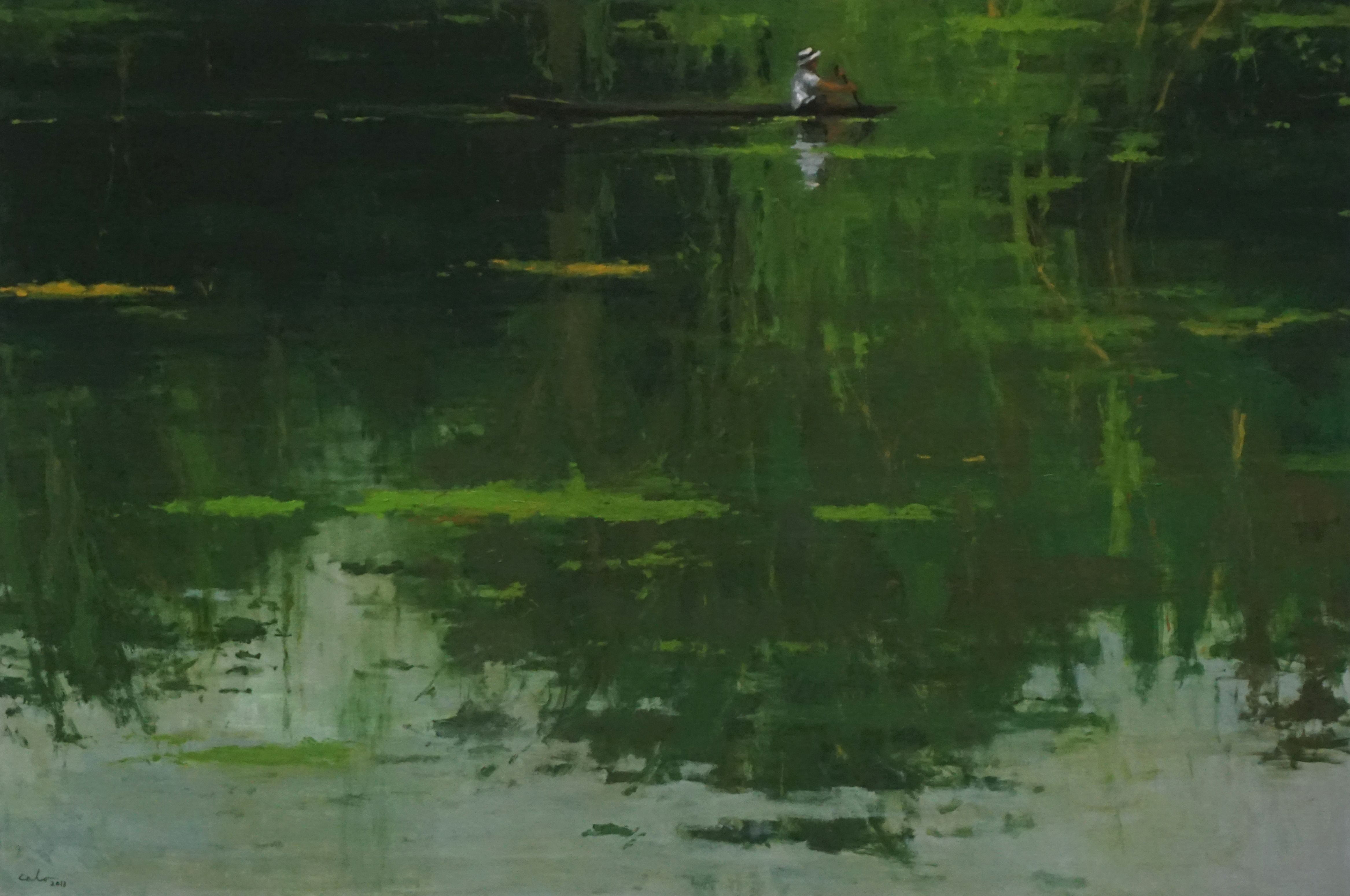 Reflection n°5, Jungle series,Calo  Carratalá,Painting