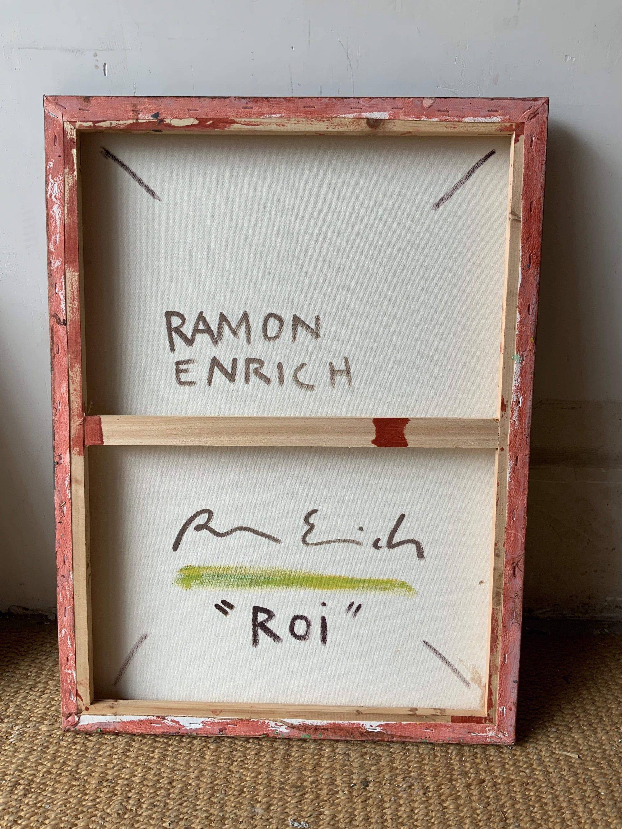 ROI,Ramon Enrich,Contemporary painting, detail 2