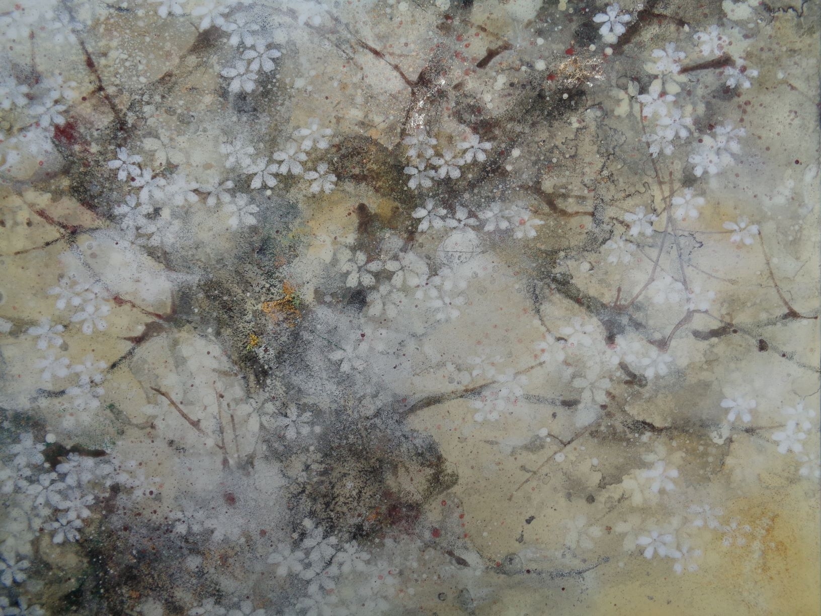 Saison du cerisier,Chen Yiching,Peinture contemporaine, detail 2