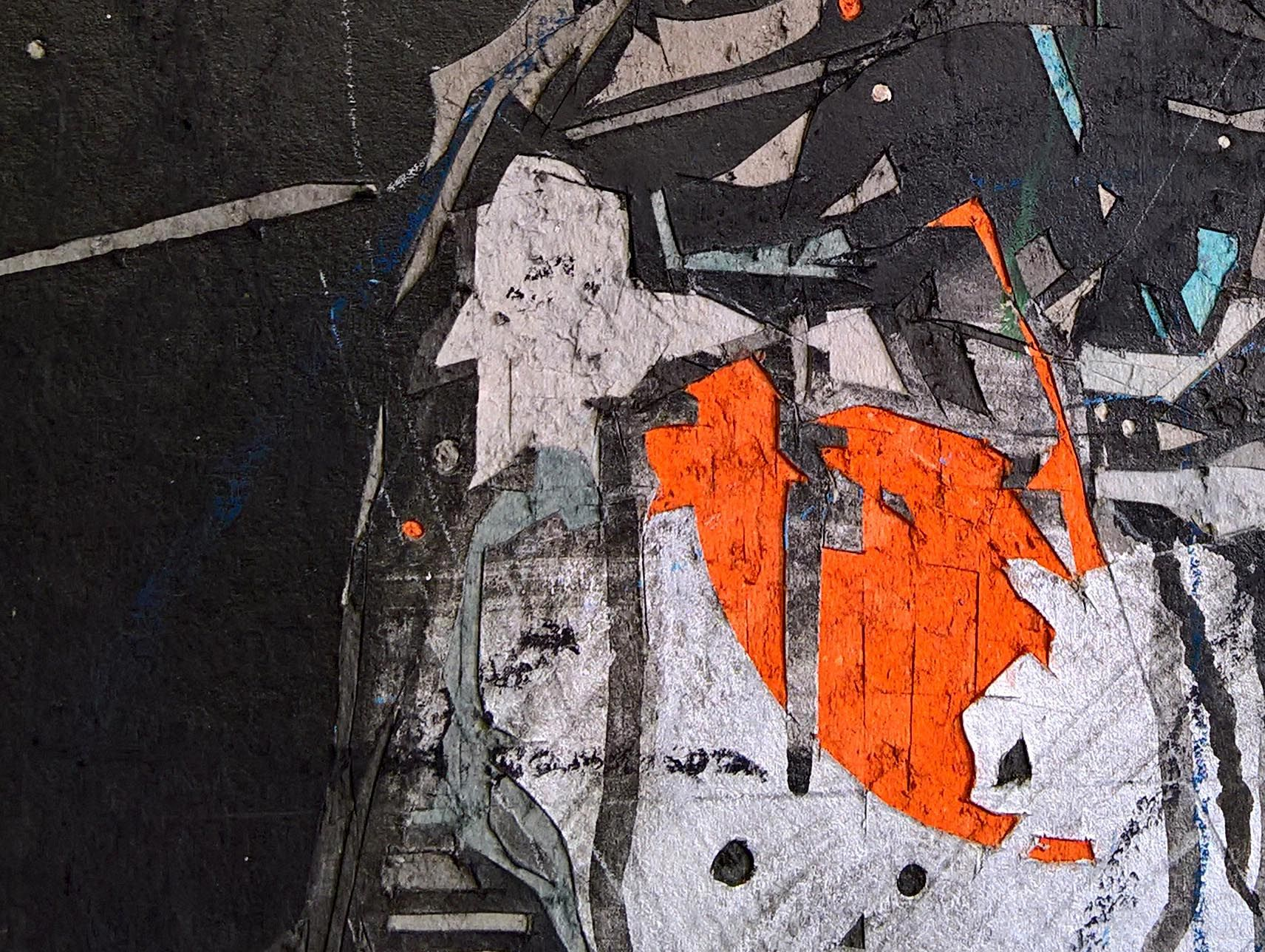 Tribute to Artists 2,Hongyu Zhang,Contemporary painting, detail 1