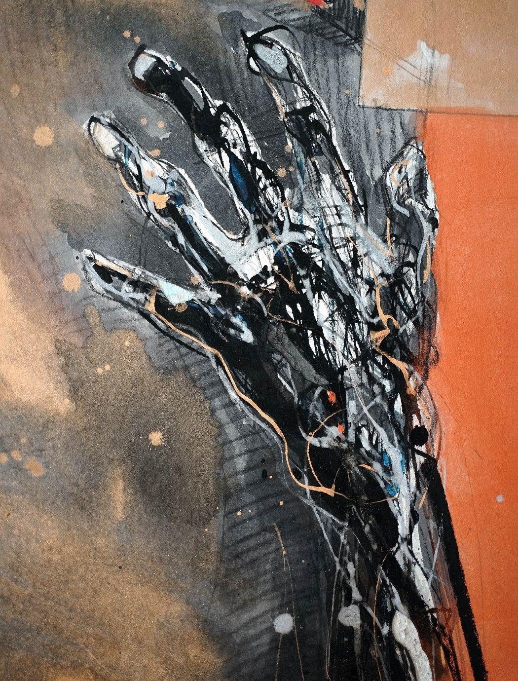 Untitled 19 ,Hongyu Zhang,Contemporary painting, detail 3