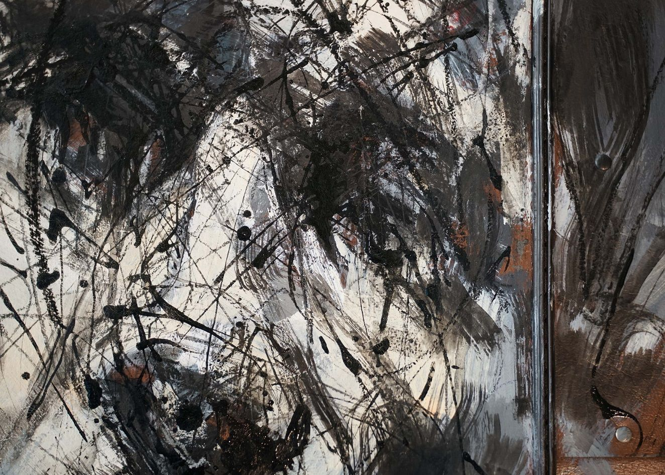 Contemporary painting - Hongyu Zhang - Untitled 21 - detail 3