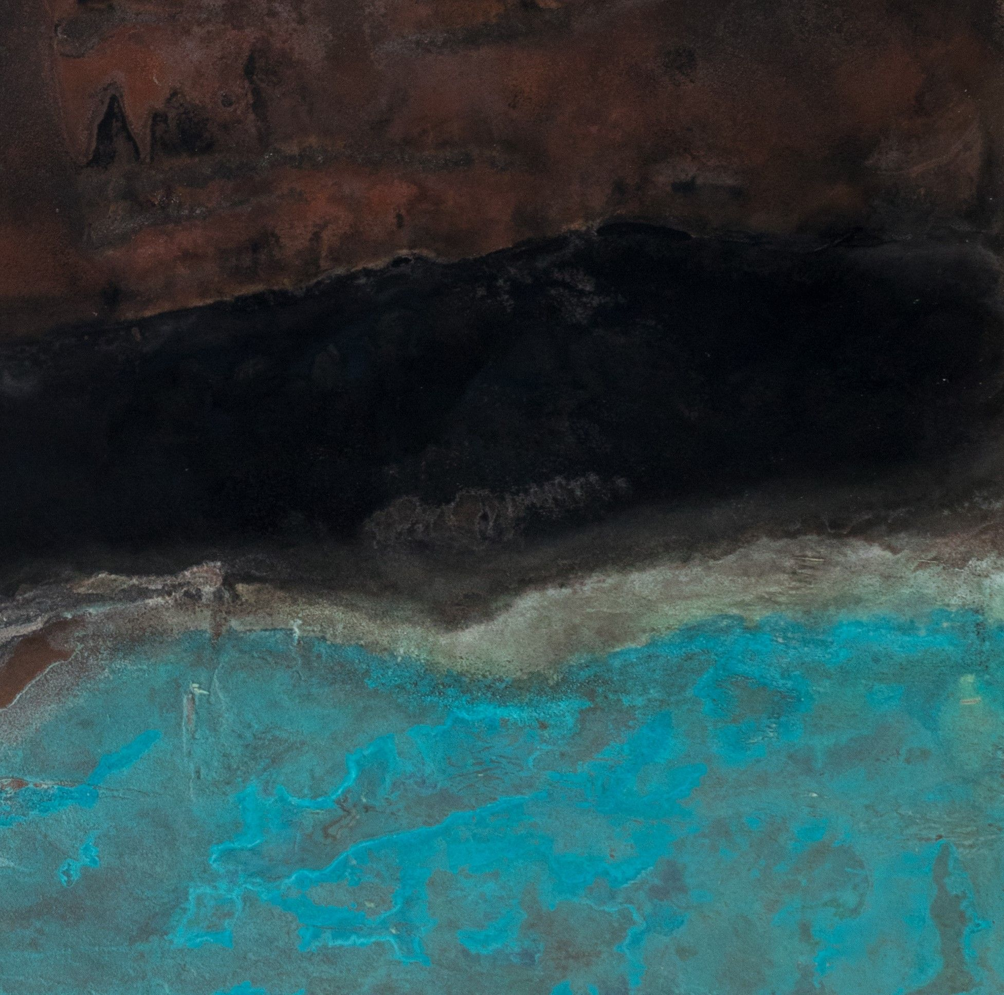 Sans titre XIX-X, Small size series,Frédérique Domergue,Contemporary painting, detail 2