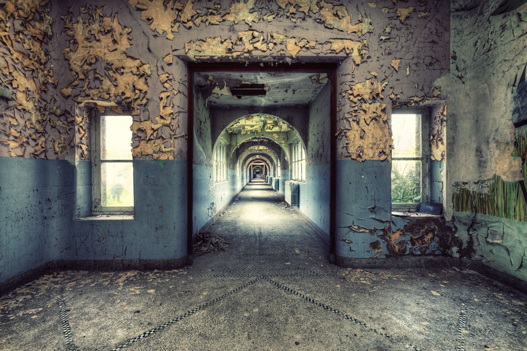School Corridor,Gina Soden,Photography