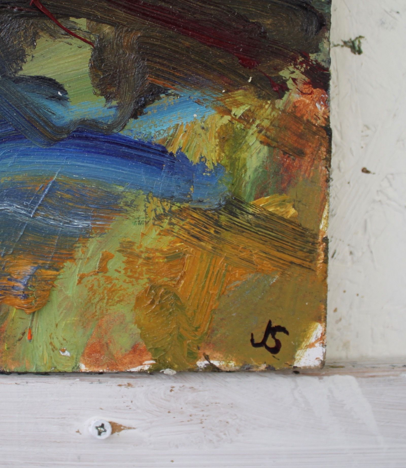 Sea Cliff Tarbet Ness - Jonathan Shearer - Contemporary painting - detail 2