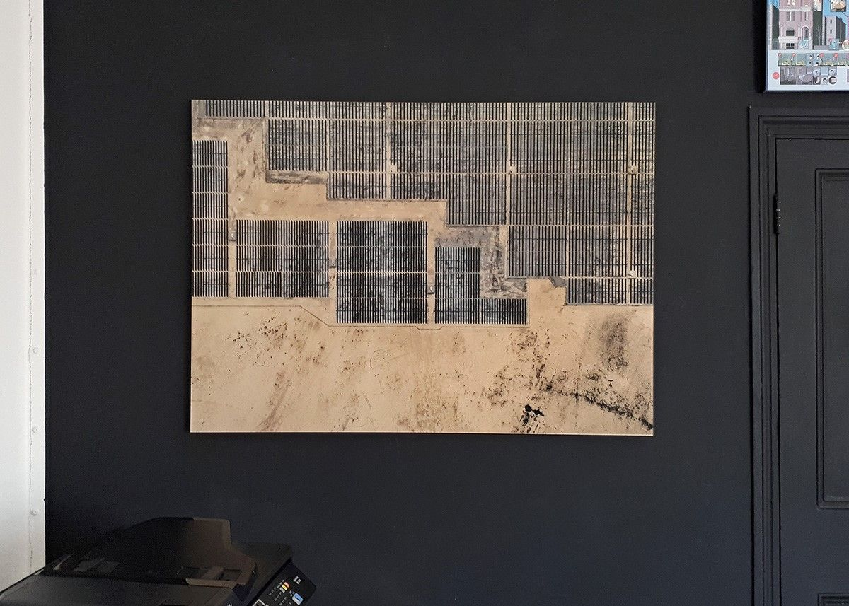 Aerial Views, Solar Plants 003,Bernhard Lang,Photographie contemporaine, detail 1