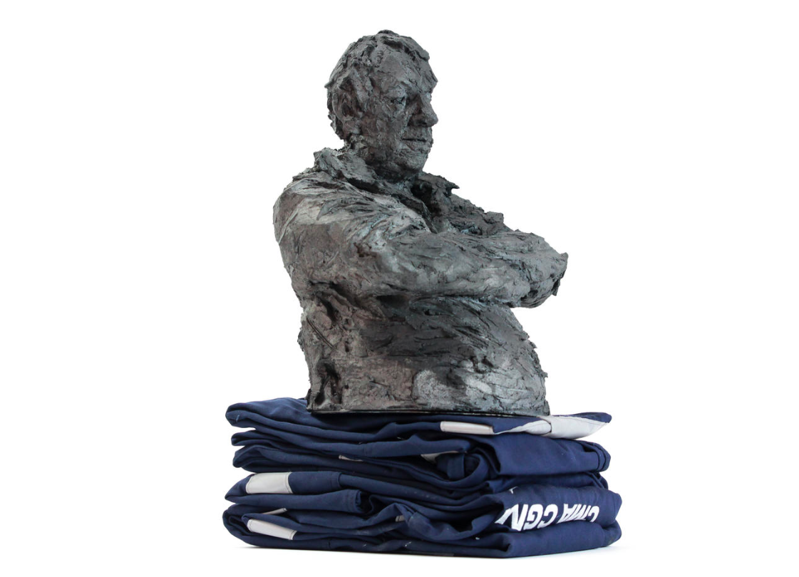 Blue solo (with Jean-Pierre) - Cécile Raynal - Sculpture - detail 2