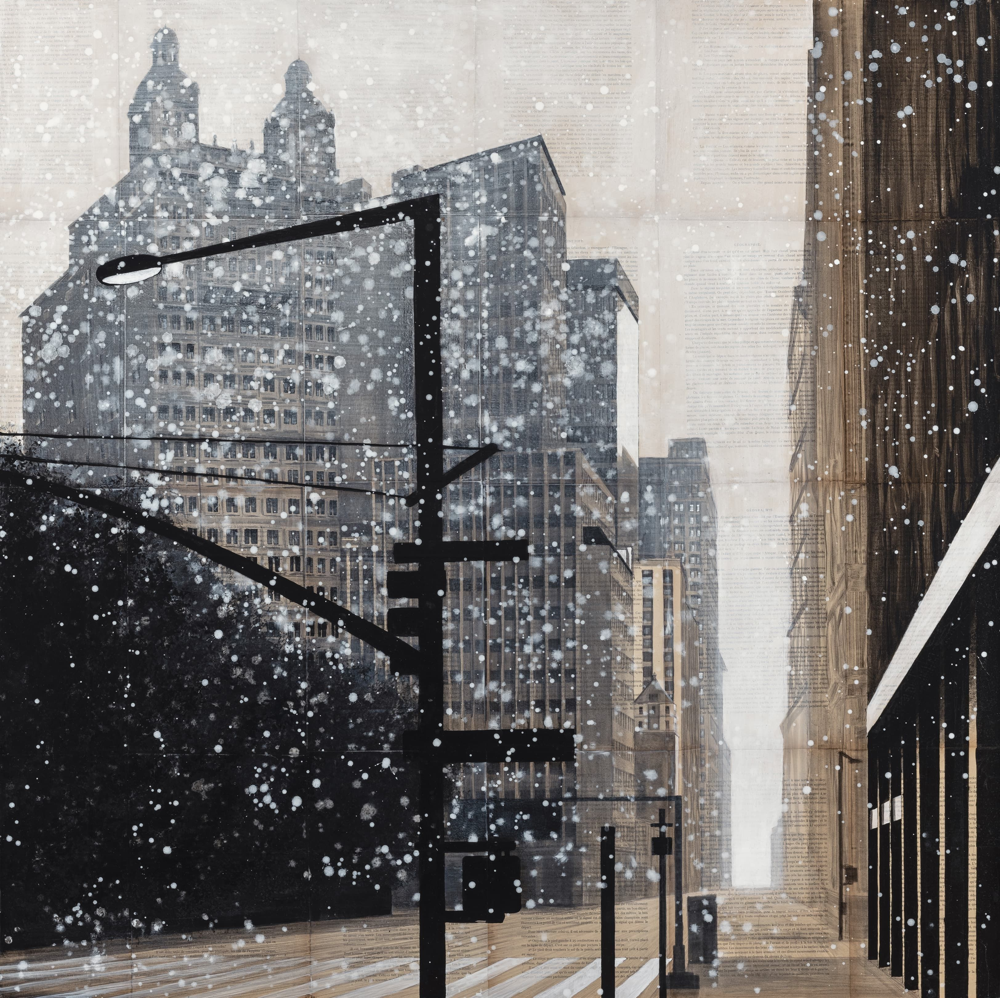 South Manhattan,Guillaume Chansarel,Painting