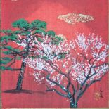 Pine and Plum tree