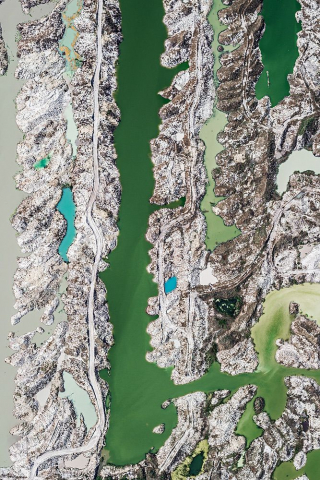 Aerial Views, Phosphate Mining 04