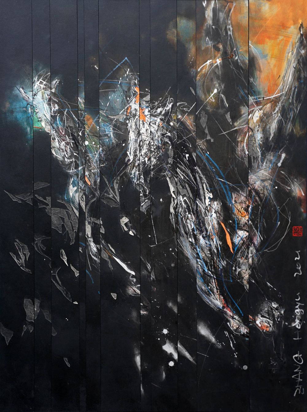 Contemporary painting - Hongyu Zhang - Nocturnal Melody 21