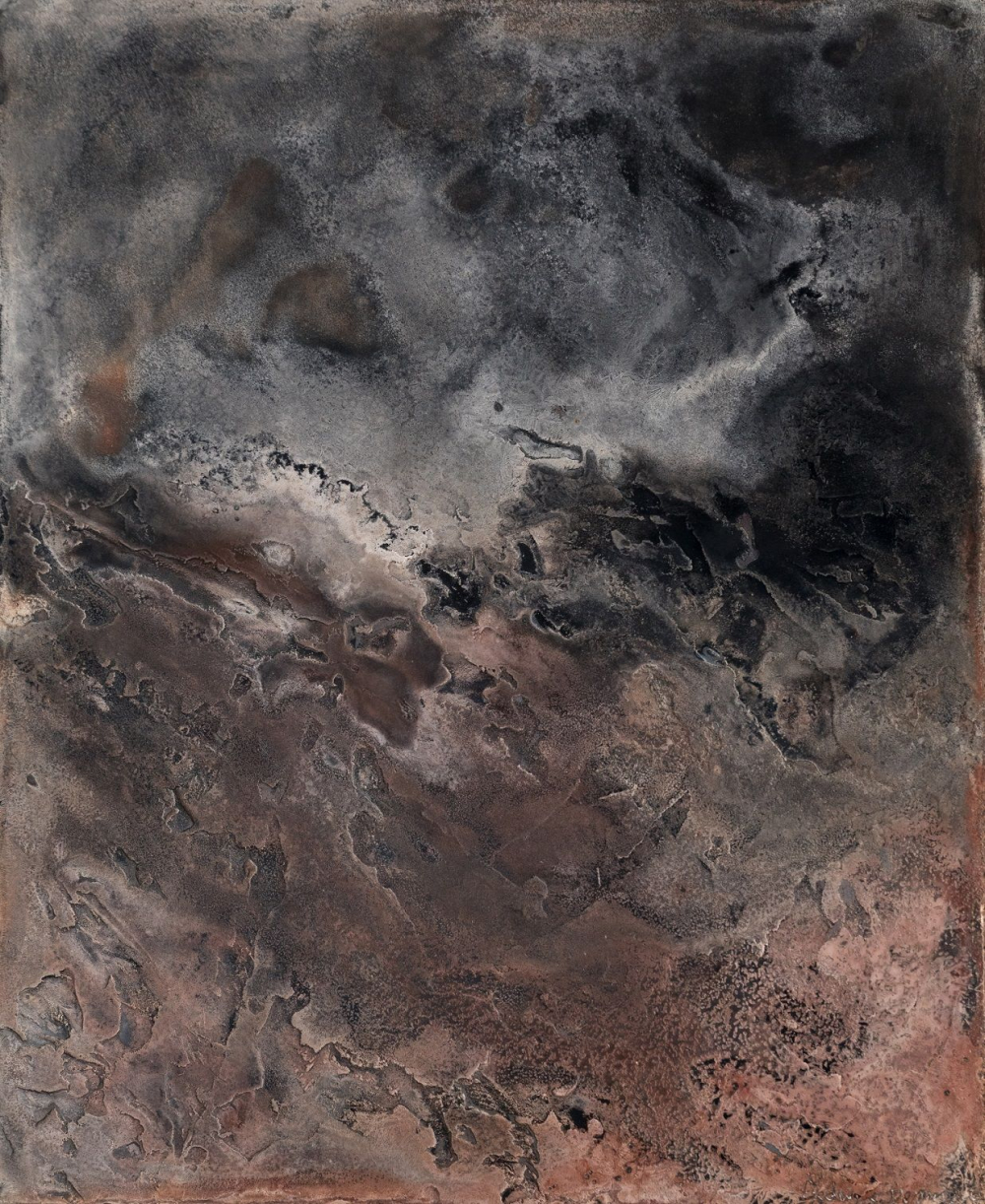 Contemporary painting - Frédérique Domergue - Untitled XVIII-XV, Small size series