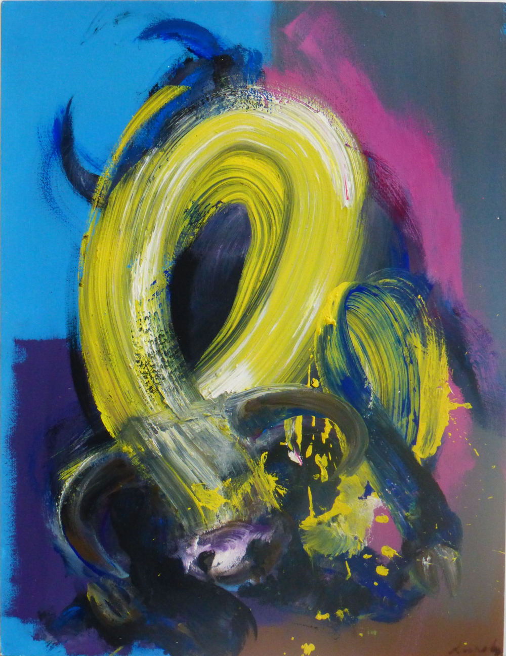 Contemporary painting - Christophe Dupety - Taureau II