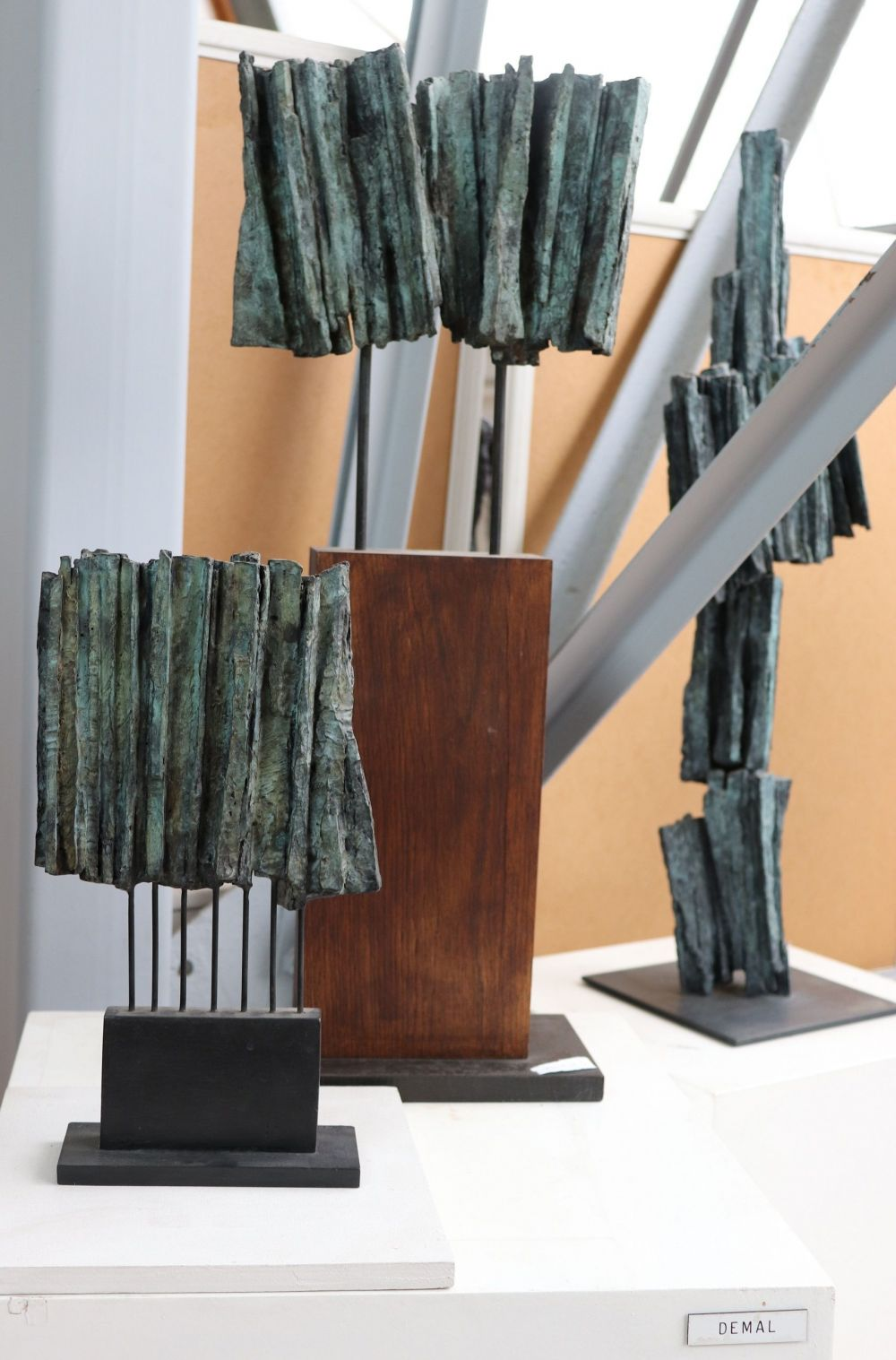 Sculpture - Martine Demal - Small Vibration, Signs & Writings series - detail 2