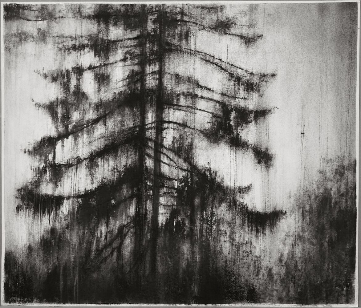 Contemporary painting - Guy Oberson - Arbre fragment 3