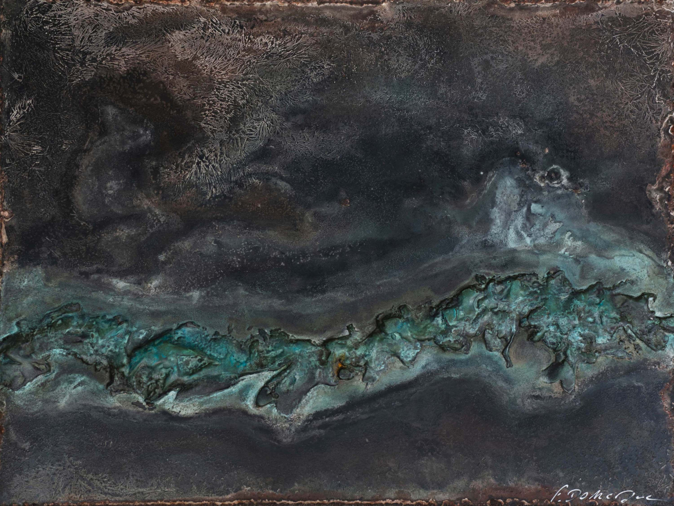 Contemporary painting - Frédérique Domergue - Atoll II