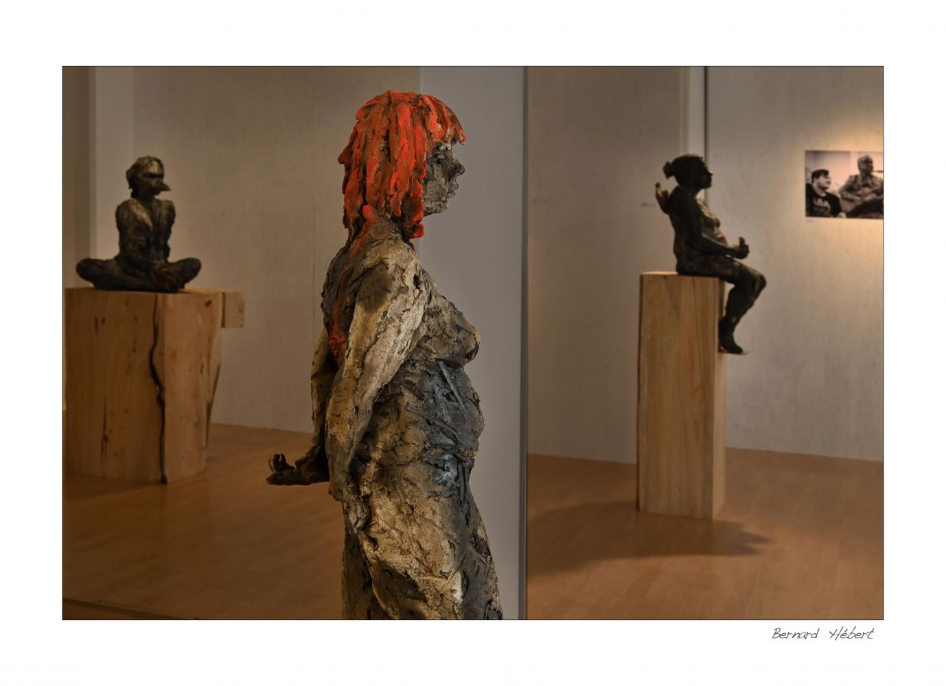 Sculpture - Cécile Raynal - Scarlet (with Lindsay)