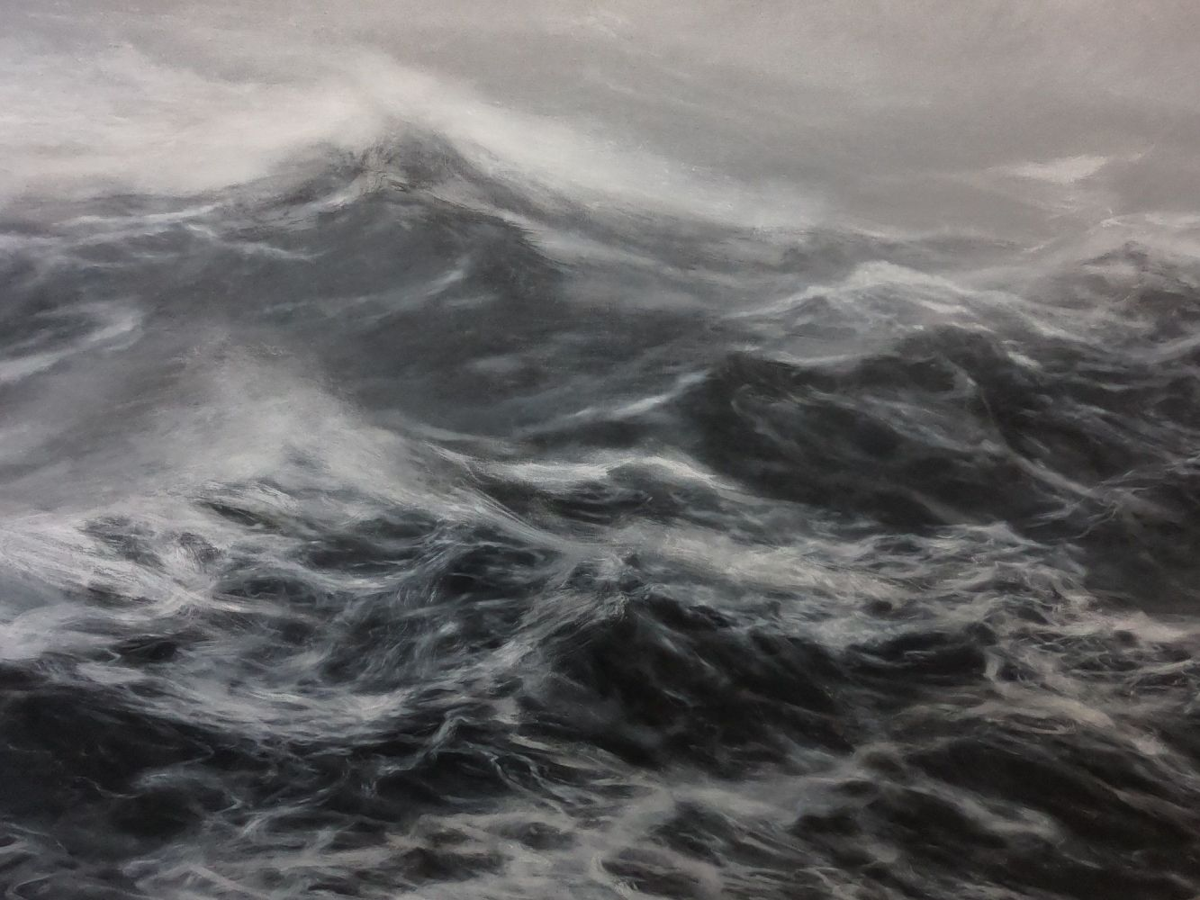 Contemporary painting - Franco Salas Borquez - The kingdom of the wind - detail 3