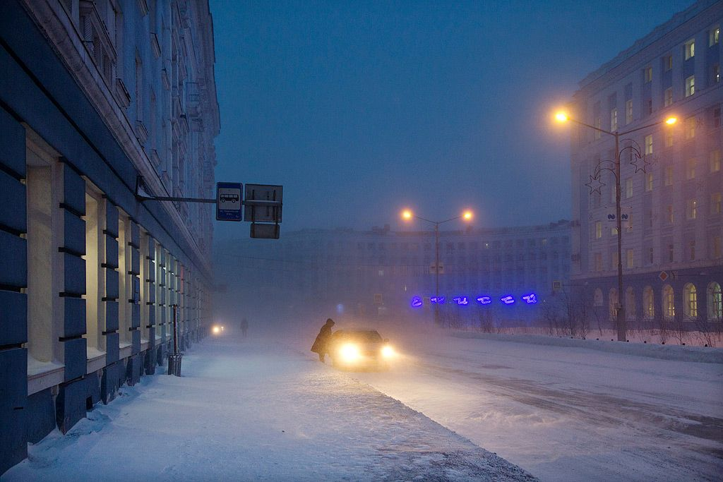 Taxi, Norilsk,Christophe Jacrot,Photographie