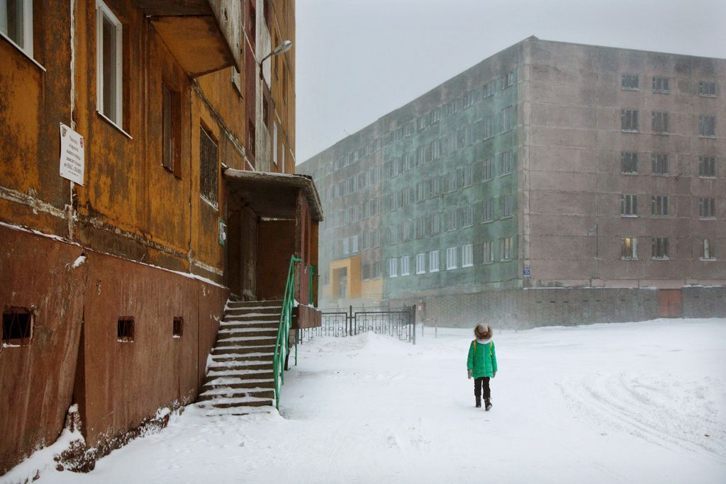 The school, Norilsk,Christophe Jacrot,Photographie contemporaine