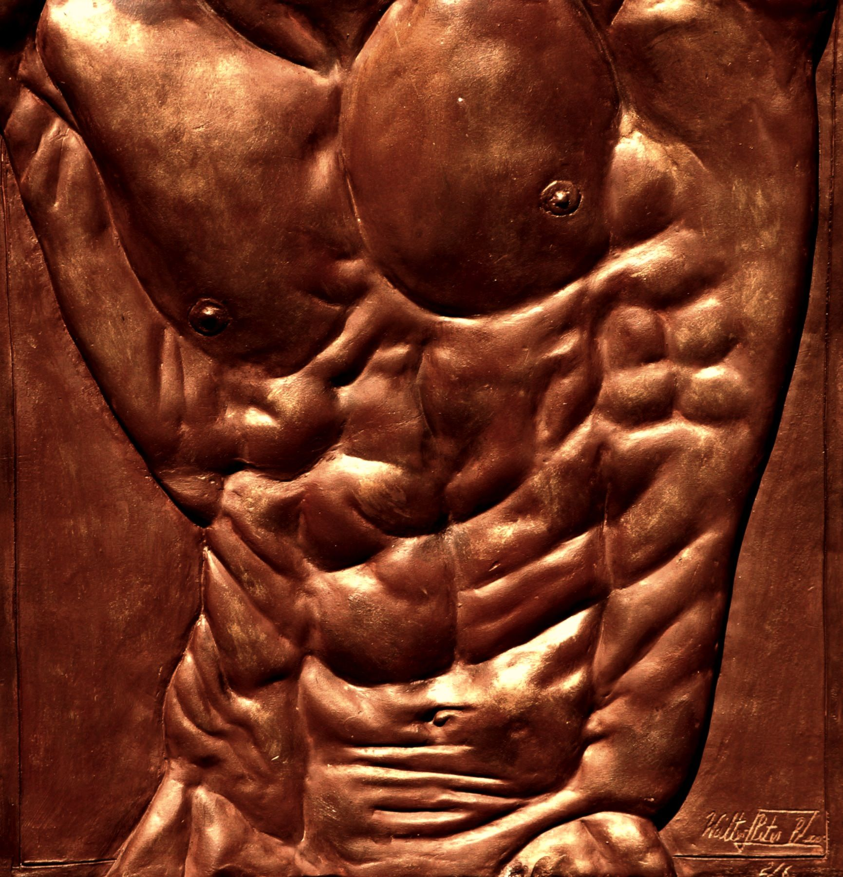 Torso of Hercules,Walter Peter Brenner,Sculpture