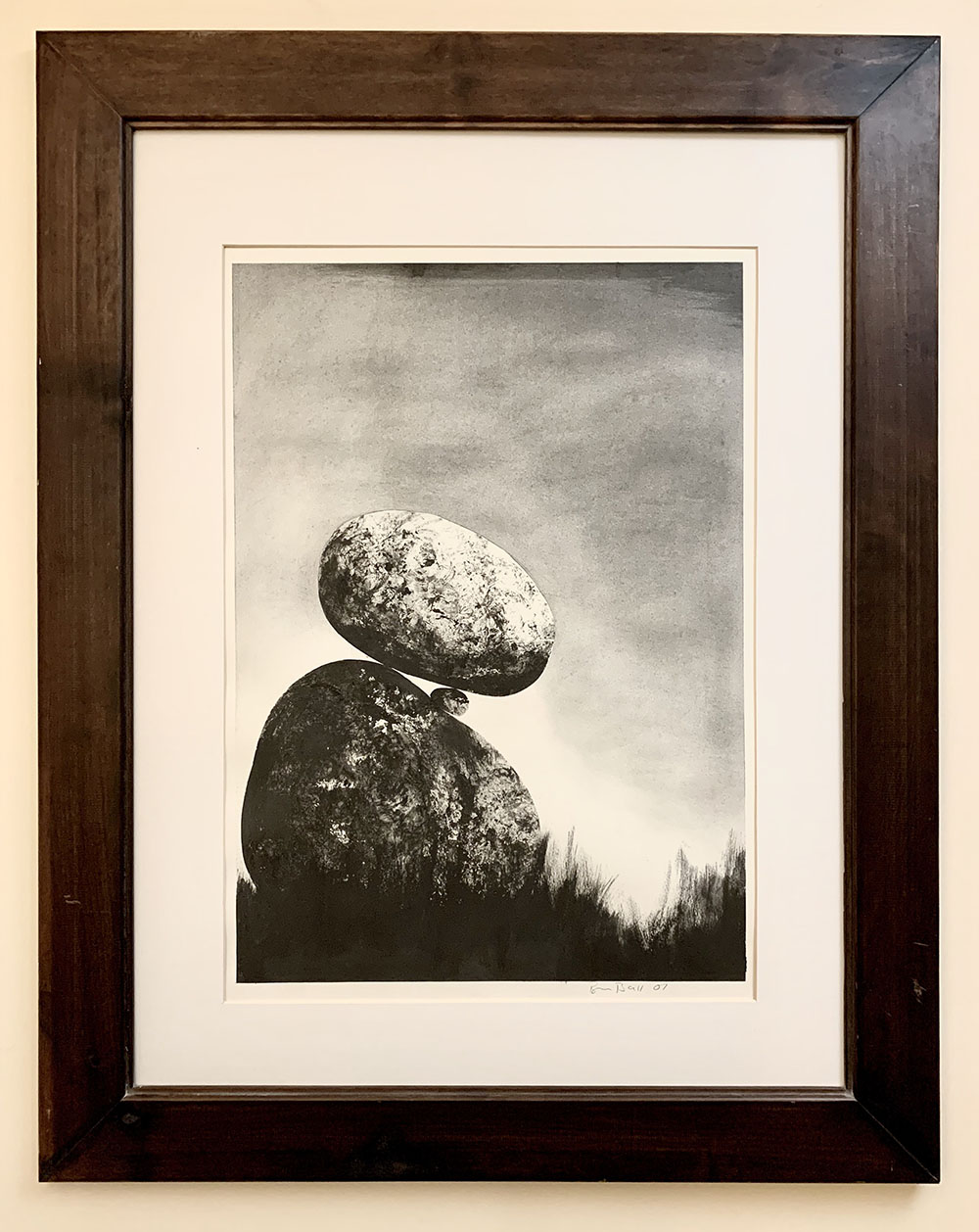 Contemporary painting - Peter Brooke-Ball - Trapped Rock