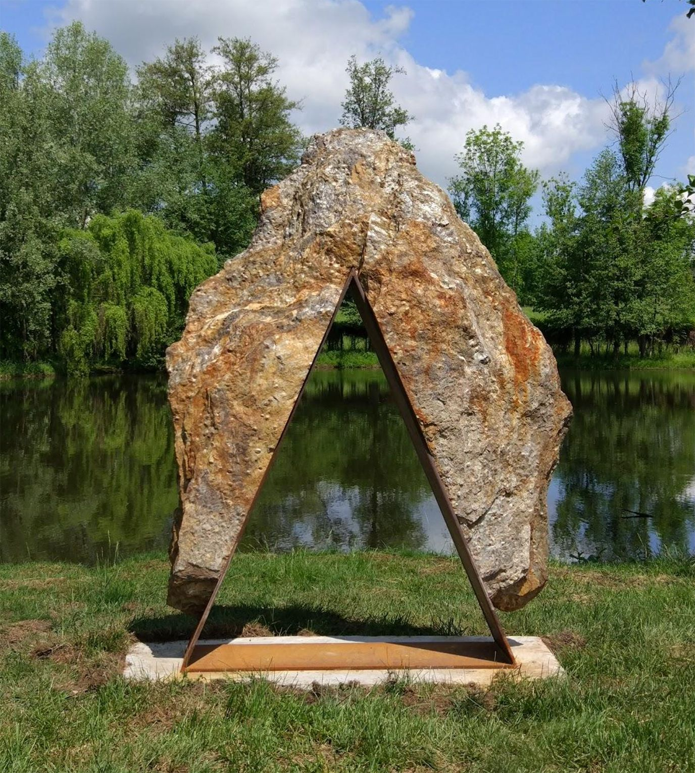 Sans titre II, sculpture monumentale,Mattia Bosco,Sculpture contemporaine