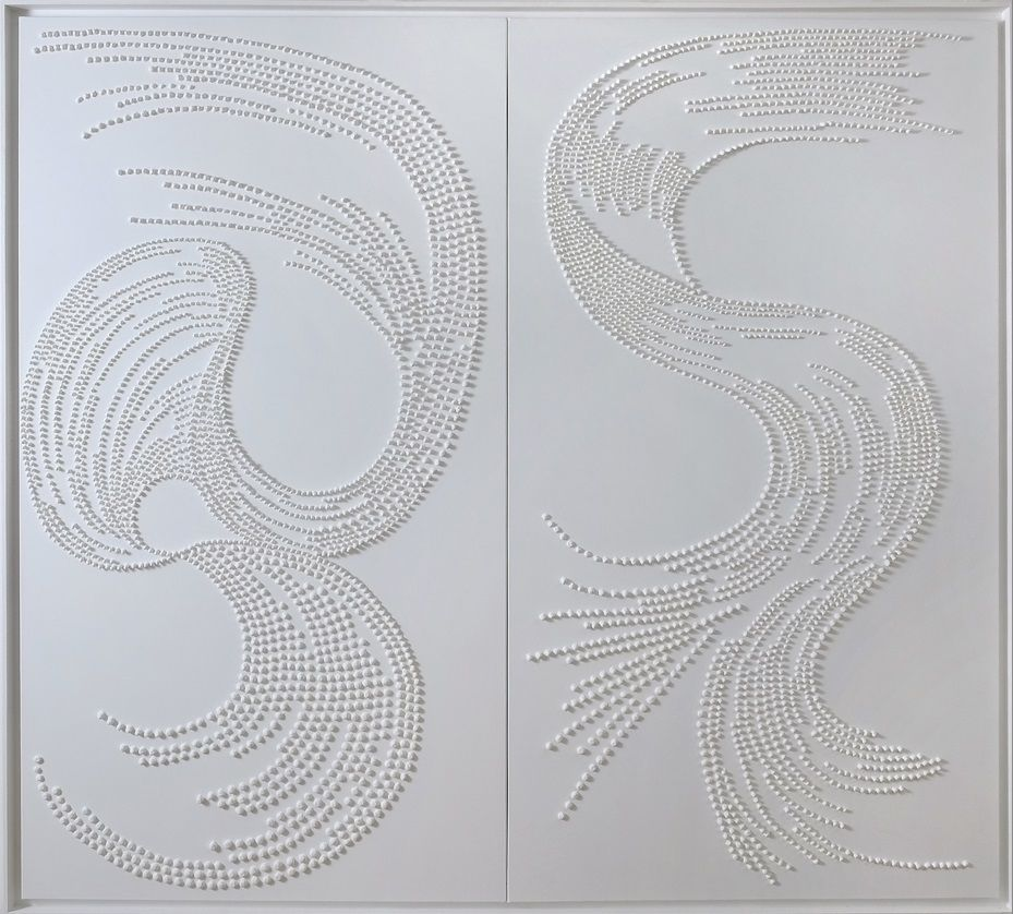 White Diptych,Jane Puylagarde,Contemporary painting