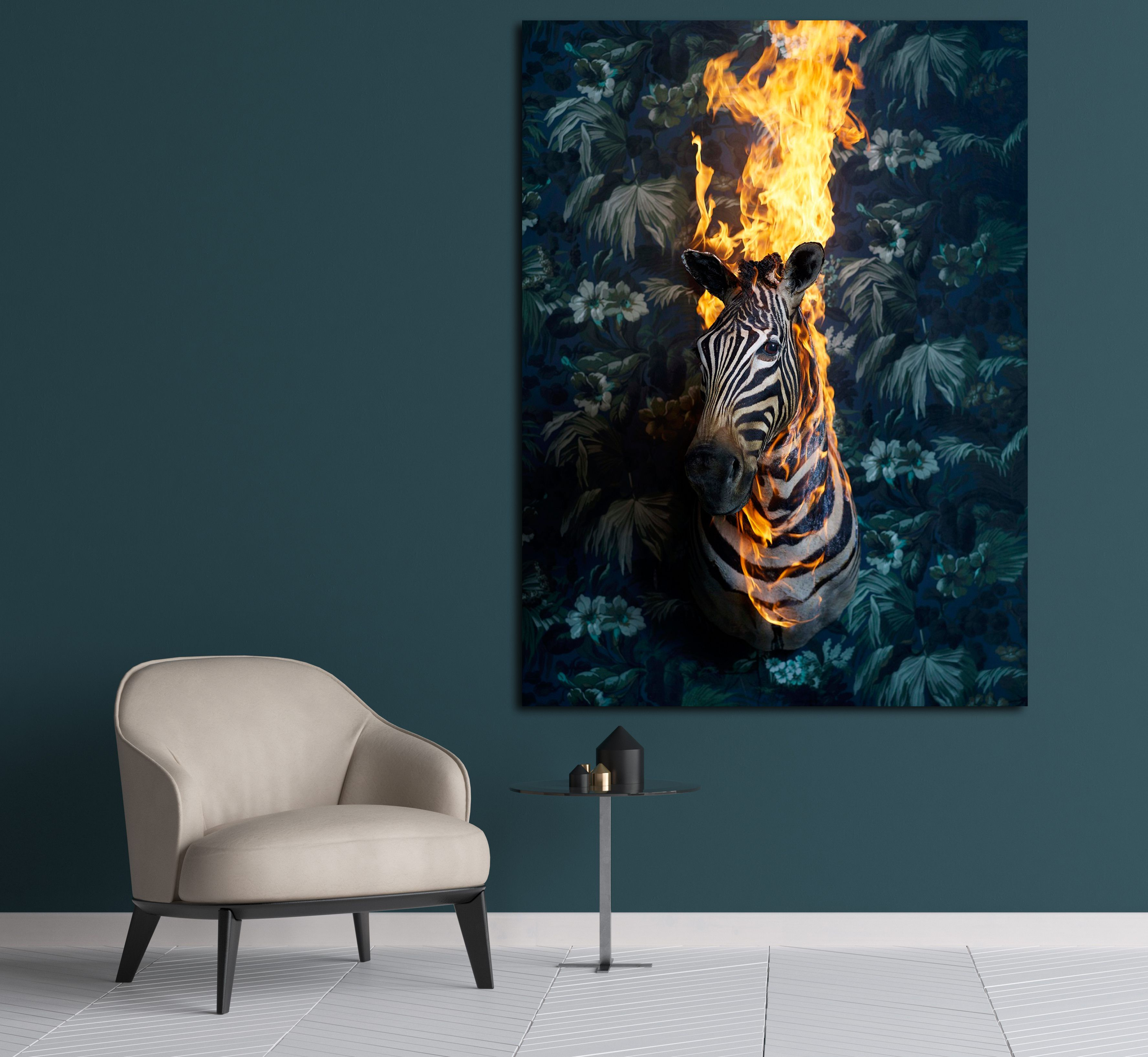 Zebra, série Residence of Impermanence,Christian Houge,Photographie contemporaine, detail 2
